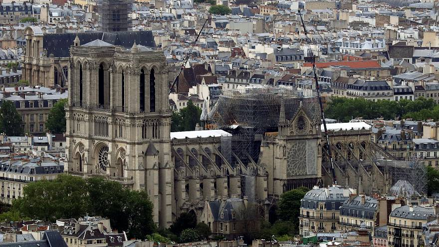 Notre-Dame Cathedral in Paris, France on May 10, 2019.