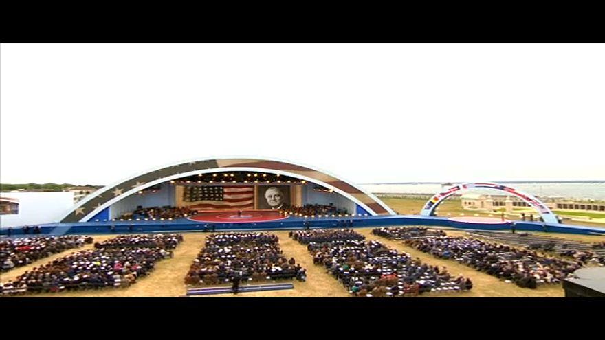 Líderes mundiales y veteranos conmemoran el Día D en Portsmouth