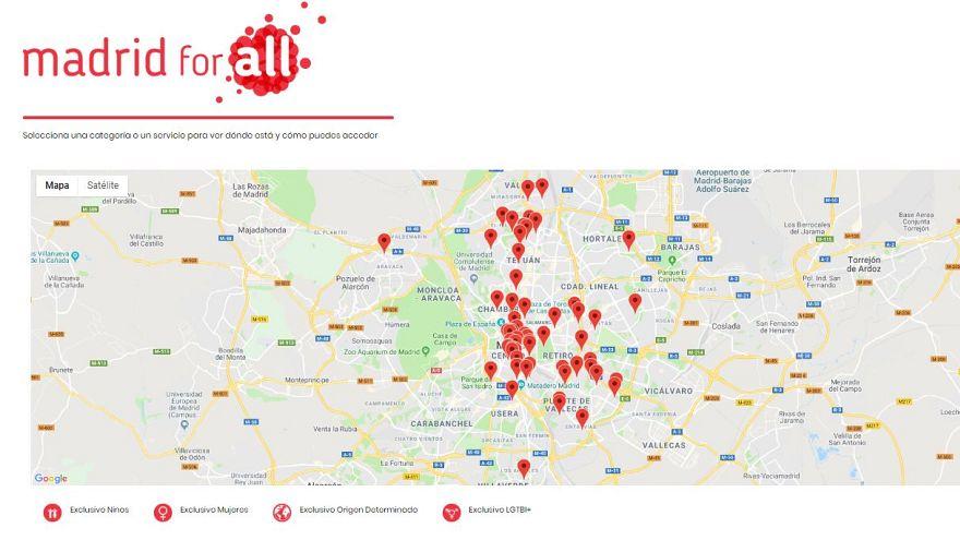 ¿Dónde ir cuando acabas de llegar? Un mapa online busca orientar a los migrantes en Madrid