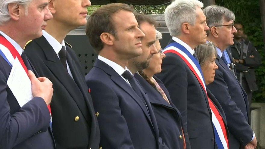Macron erinnert an Gestapo-Opfer von Caen