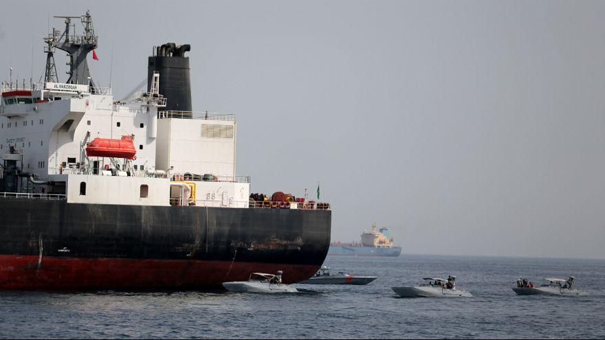 نفتکش آسیب دیده عربستانی در انفجارهای فجیره