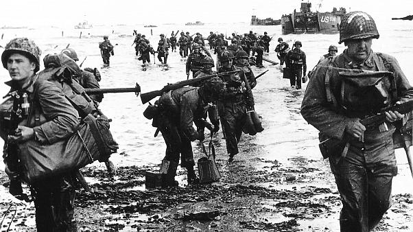 U.S. reinforcements land on Omaha beach near Vierville sur Mer, France.