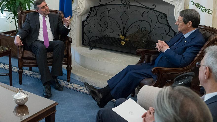 Ο Πρόεδρος Ν.Αναστασιάδης δέχεται τον Βοηθό Υφ.Εξ των ΗΠΑ Μάθιου Πάλμερ