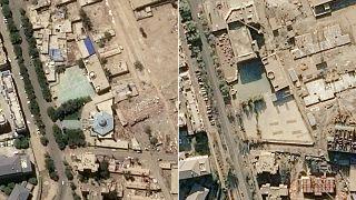 Doğu Türkistan'da Çin'in yıktığı camilerin öncesi ve sonrası uydu görüntülerinde