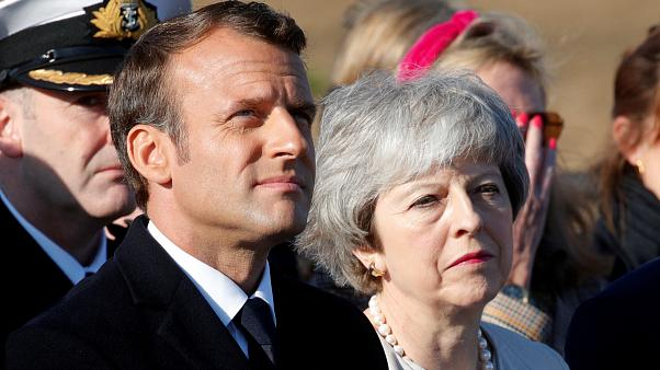 May and Macron in France to mark 75th D-Day anniversary