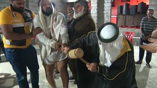 """صورة من """"حلقة ذكر"""" للصوفيين الرفاعيين في أربيل"""