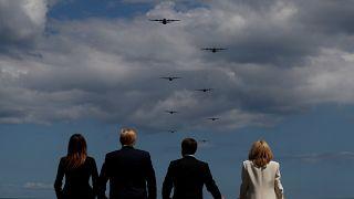 """Trump habla de una """"alianza sagrada"""" en la conmemoración del Día D"""