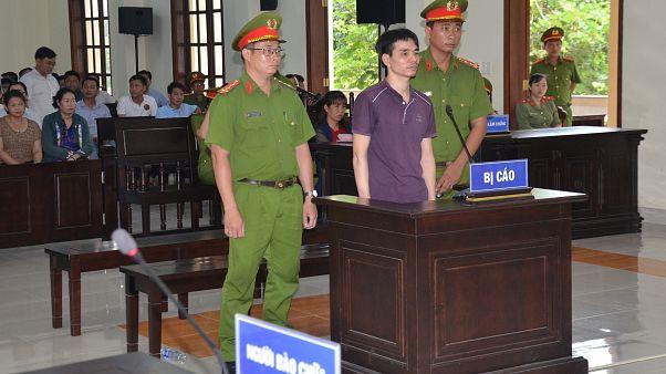 المدان الفيتنامي في المحكمة اليوم