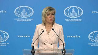 Maria Zakharova gives a press conference
