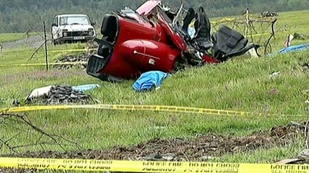 В Грузии разбился вертолет
