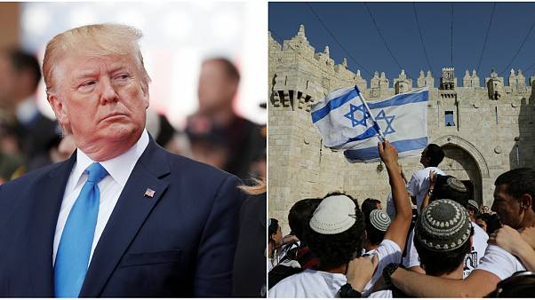 """""""ترامب الخارق"""".. جوقة موسيقية إسرائيلية تغني للرئيس الأمريكي وتطلق عليه لقب """"أمير القدس"""""""