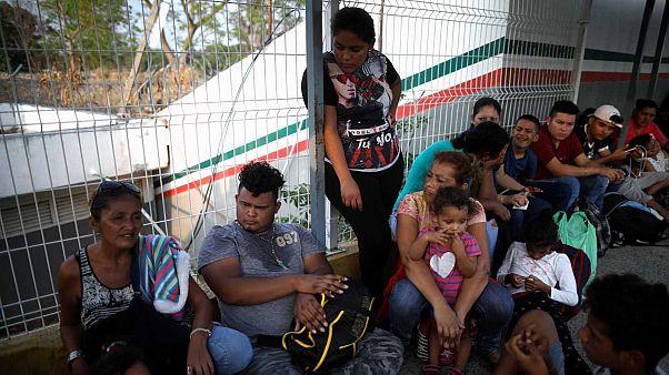 Archives. Frontière entre le Mexique et le Guatemala en avril 2019