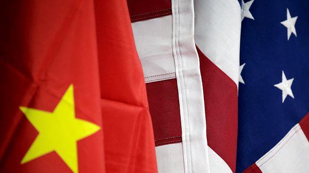 Çin - ABD bayrakları
