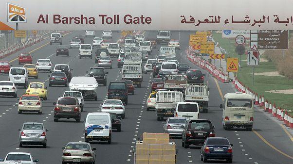 Dubai'de otobüs kazası