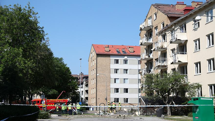 Explosion hits five-storey building in Linkoping, Sweden