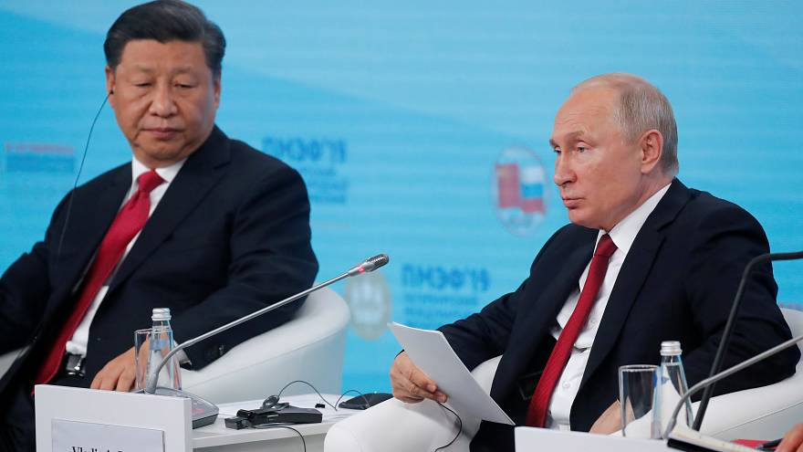 Watch again: Putin and Xi speak at St Petersburg economic forum