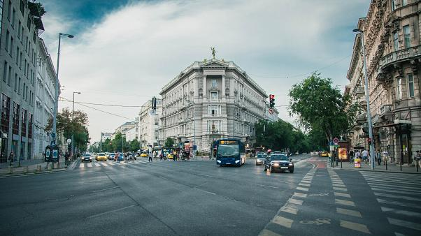Urban city-scape in Hungary, Europe