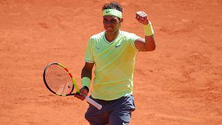 Nadal na 12.ª final de Roland Garrosao ao vencer Federer