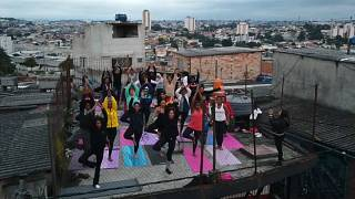 The three-hour class aims to reduce the stress of living in Capao Redondo