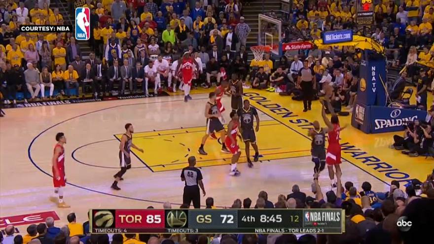 NBA : Toronto touche au but après un nouveau succès face aux Warriors