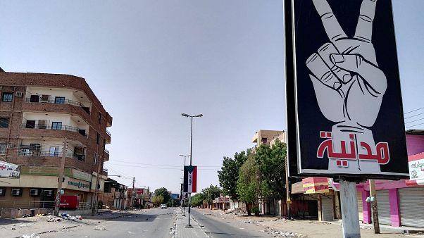 شارع 60 القريب من العاصمة السودانية الخرطوم. حزيران 2019