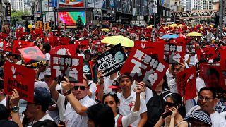 Masiva protesta contra la ley de extradición en Hong Kong