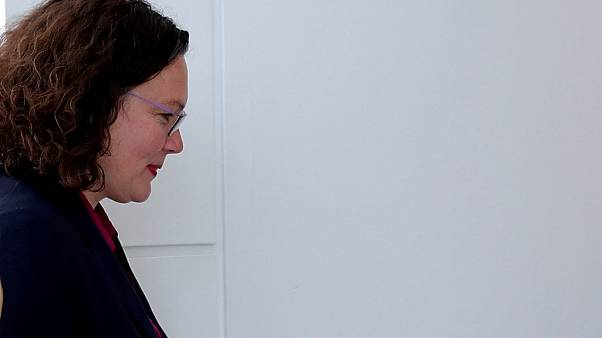 Andrea Nahles stepped down after the SPD performed badly in recent election