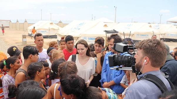 Анджелина Джоли в Колумбии