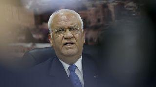 صائب عريقات أمين سر اللجنة التنفيذية لمنظمة التحرير الفلسطينية. حزيران/2018