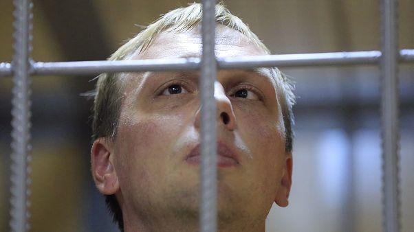 Иван Голунов на слушаниях по мере пресечения