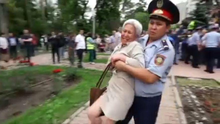 Manifestations réprimées au Kazakhstan lors du scrutin présidentiel