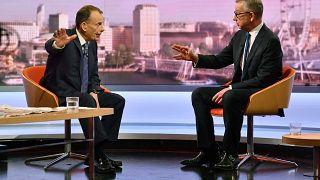 Britain's Environment Secretary Michael Gove appears on the BBC