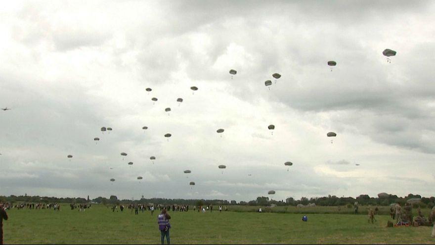 عملیات چتربازان اروپایی و آمریکایی در یادمان نبرد نرماندی
