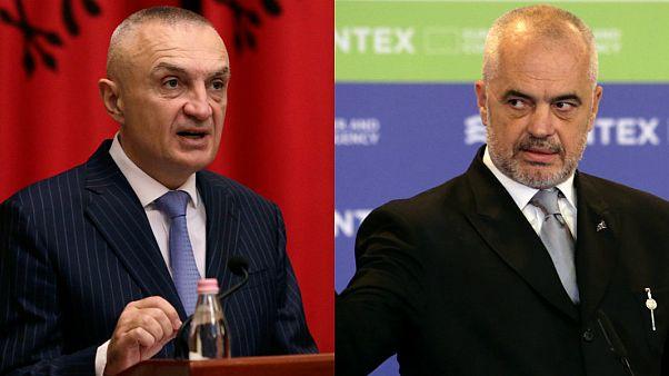 Arnavutluk Cumhurbaşkanı Ilir Meta, Başbakan Edi Rama