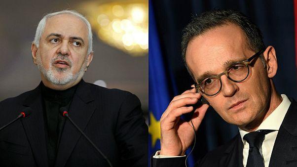 İran Dışişleri Bakanı Cevad Zarif ve Alman meslektaşı Heiko Maas