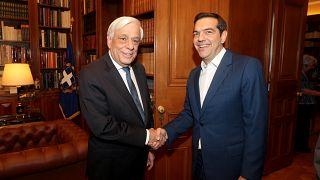 Ο ΠτΔ, Προκόπης Παυλόπουλος με τον πρωθυπουργό, Αλέξη Τσίπρα