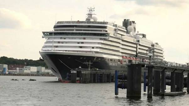 Climate activists block cruise ship from leaving German port