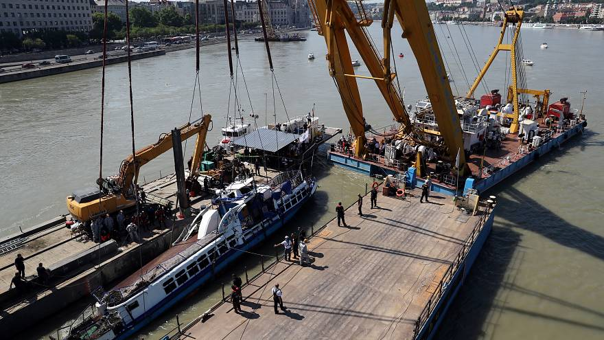 Watch live: Boat involved in deadly collision lifted from Danube