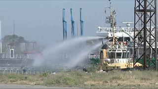 Взрыв на танкере в России