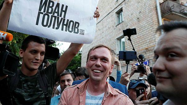 ایوان گولونوف روزنامهنگار پروندههای مفاسد اقتصادی روسیه آزاد شد