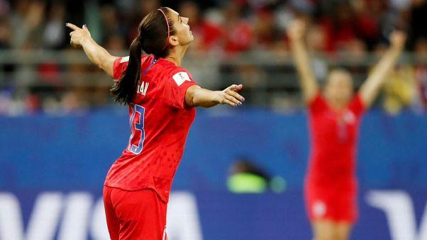 Női futball-vb: USA-gála Thaiföld ellen