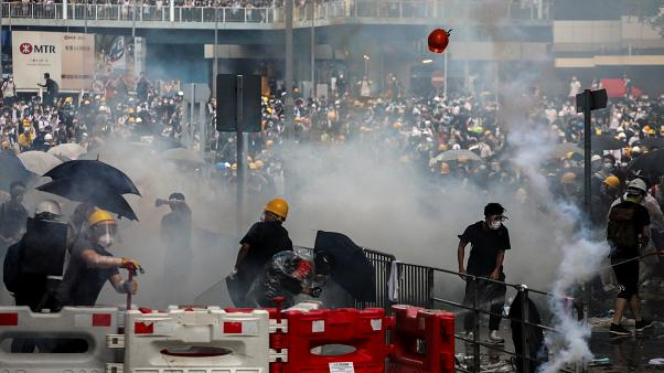 Hong Kong protests: 72 injured in violence, two in serious condition
