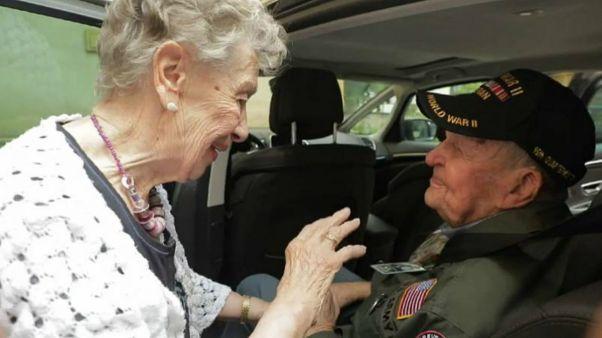 دیدار یک کهنه سرباز با معشوق خود پس از ۷۵ سال