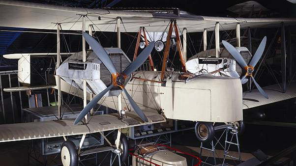 The Alcock and Brown's Vickers Vimy, preserved in the London Science Museum