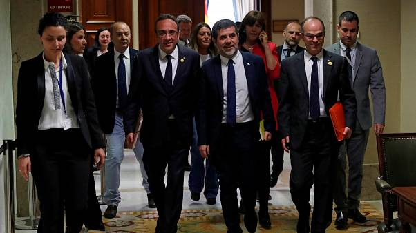 Some of the Catalonian leaders in the Spanish Parliament