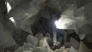 In der Kristallhöhle von Pulpi