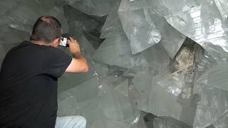 The geode lies beneath an abandoned silver mine in Andalucia