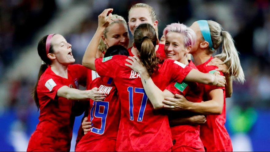 پیروزی تاریخی تیم ملی زنان آمریکا مقابل تایلند