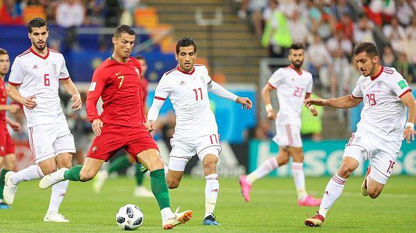 مباراة جمعت منتخب البرتغال ضد إيران في كأس العالم 2018