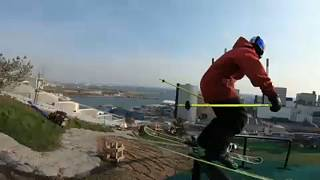 شاهد: مغامرة تحبس الأنفاس في منحدر كوبنهاغن للتزلج